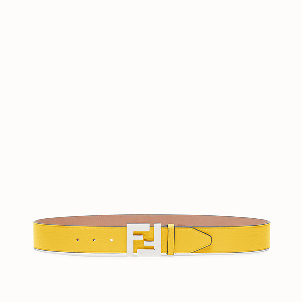 FENDI BELT - Yellow Romano leather belt - view 1 small thumbnail
