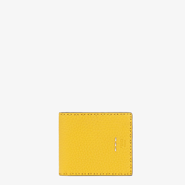 FENDI WALLET - Yellow leather bi-fold wallet - view 1 detail