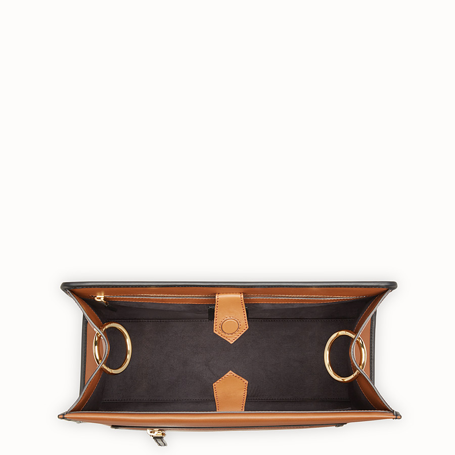 FENDI RUNAWAY REGULAR - Brown leather bag - view 4 detail