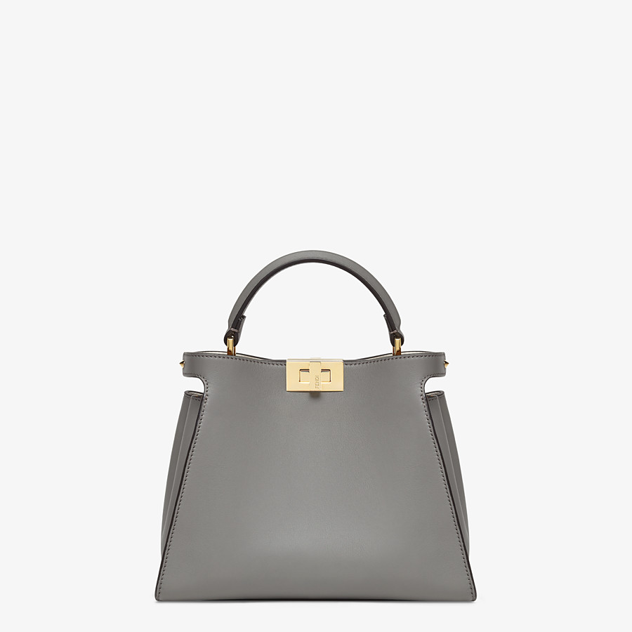 FENDI PEEKABOO ICONIC ESSENTIALLY - Gray leather bag - view 1 detail