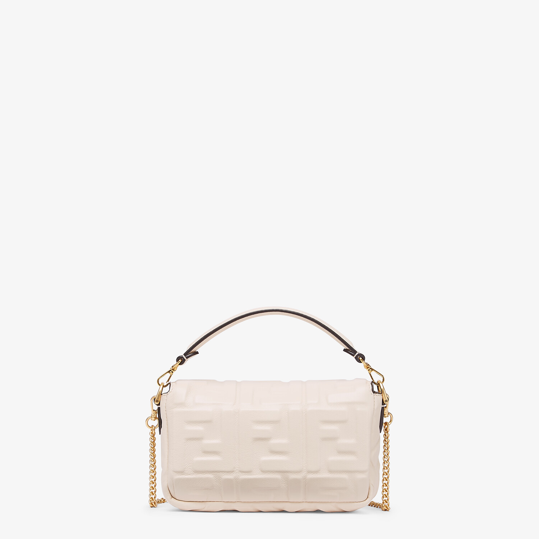 FENDI BAGUETTE - White nappa leather FF bag - view 3 detail