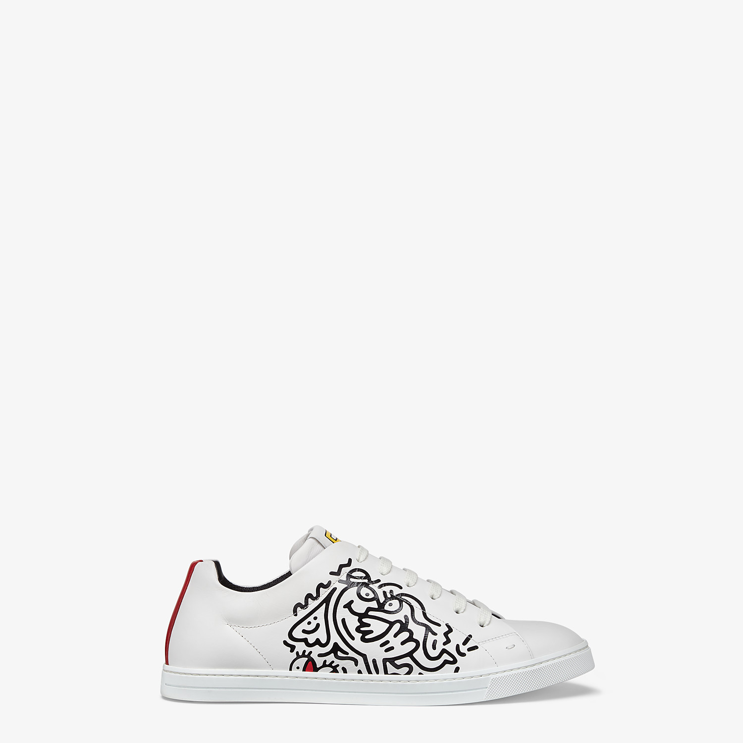 FENDI SNEAKERS - Leather low tops from the Mr. Doodle capsule - view 1 detail