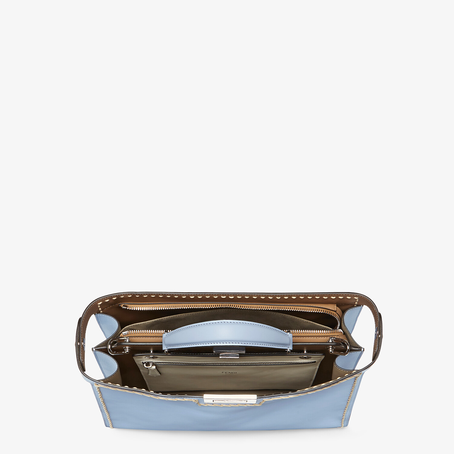 FENDI MEDIUM PEEKABOO ISEEU - Light blue leather bag - view 5 detail