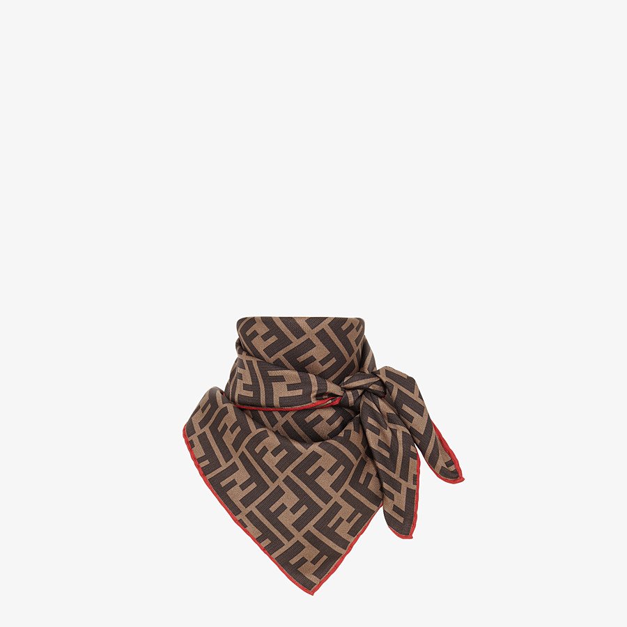 FENDI FENDIRAMA FOULARD - Multicolour silk foulard - view 2 detail