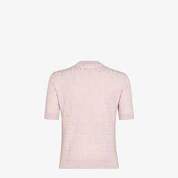 FENDI SWEATER - Pink cotton and viscose sweater - view 2 thumbnail