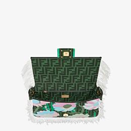 FENDI BAGUETTE - Green fabric bag - view 5 thumbnail