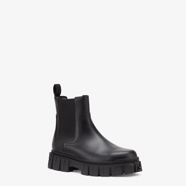 FENDI FENDI FORCE - Black leather Chelsea boots - view 2 detail