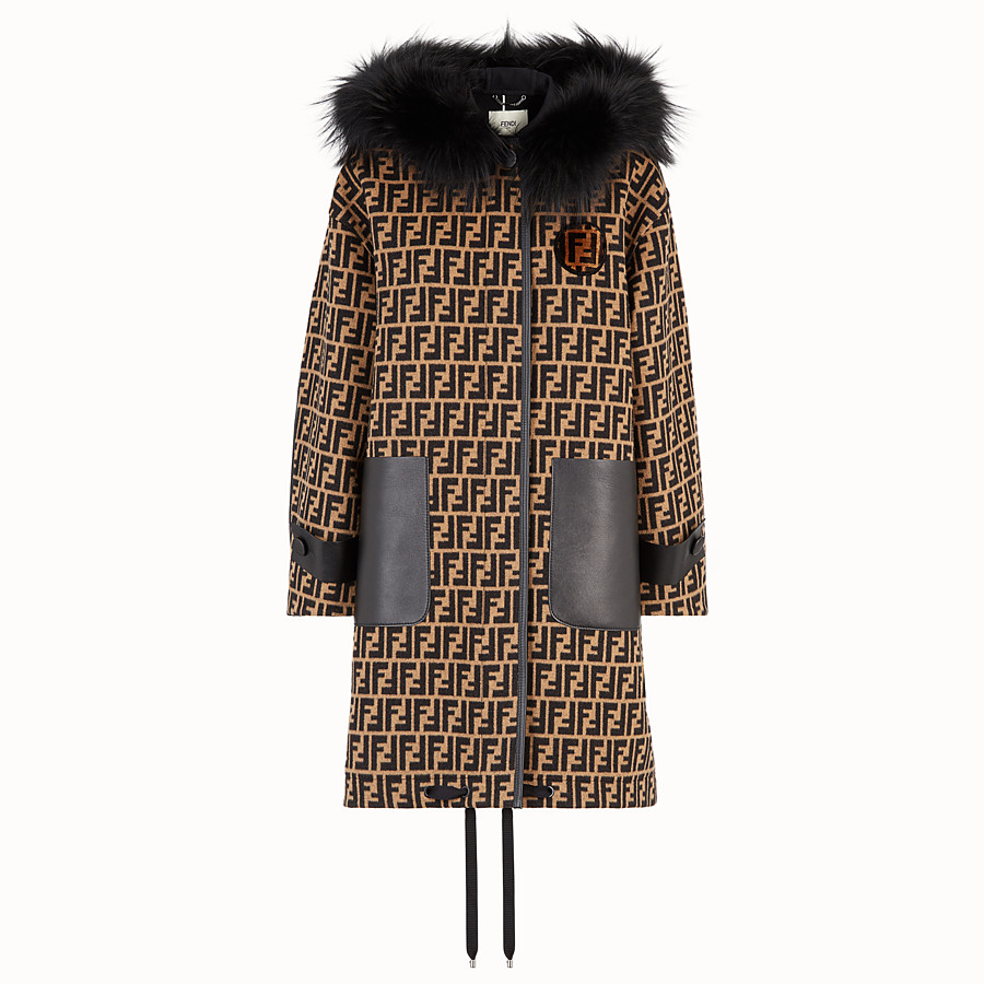 FENDI OVERCOAT - Multicolour wool jacket - view 1 detail