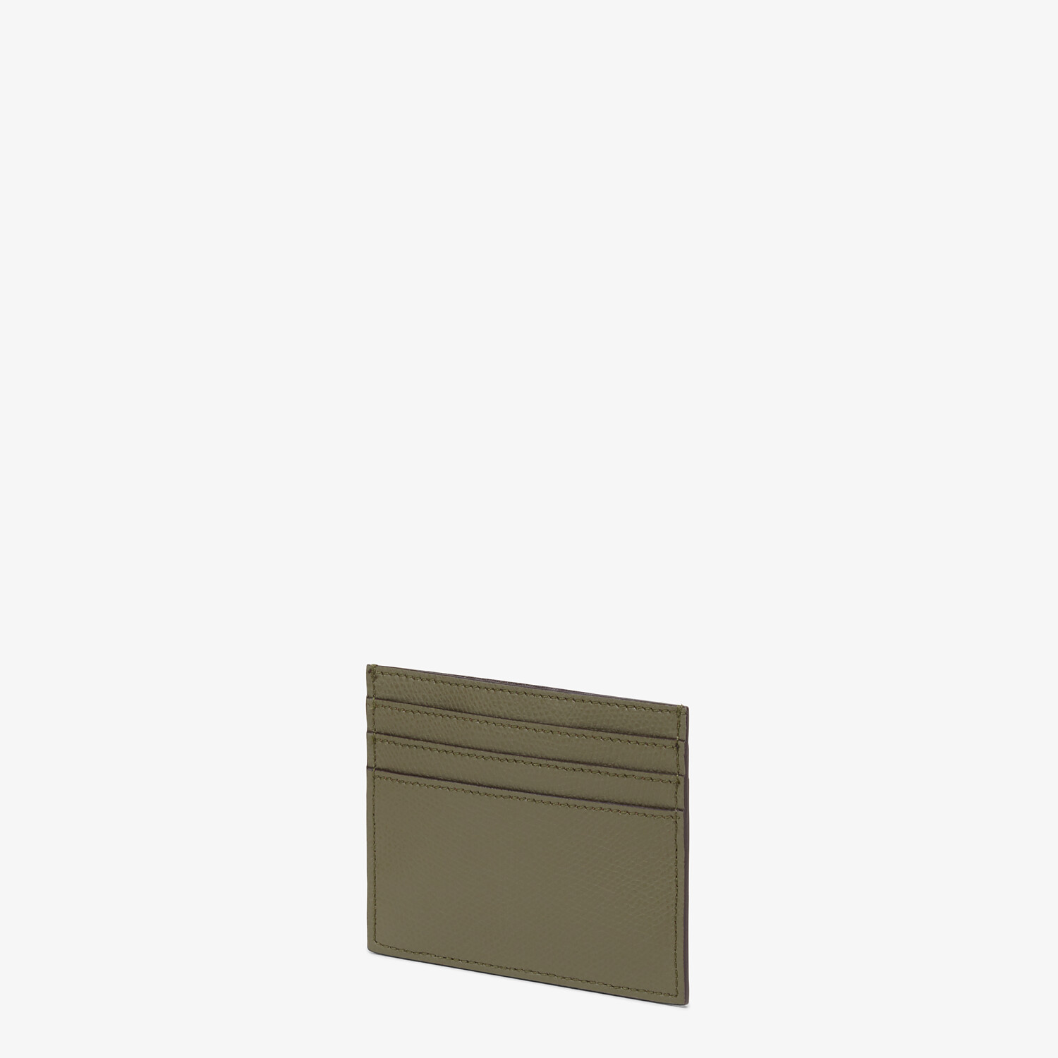 FENDI CARD CASE - Green leather flat card holder - view 2 detail