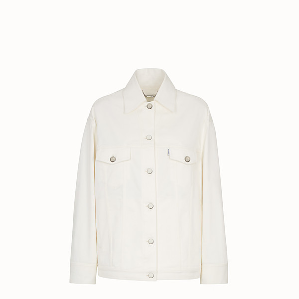 FENDI JACKET - White denim jacket - view 1 small thumbnail