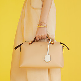 FENDI BY THE WAY MEDIUM - Beige leather Boston bag - view 2 thumbnail