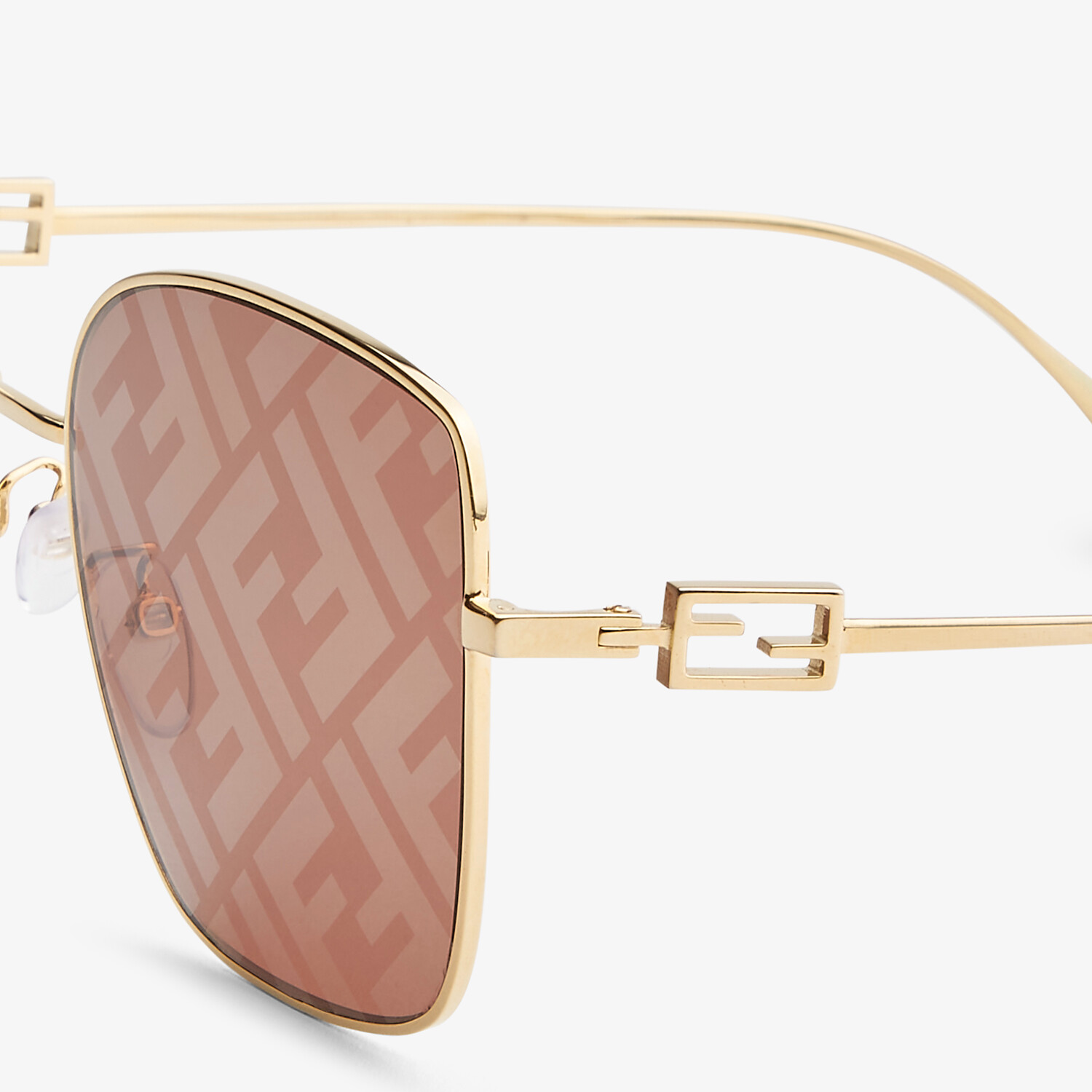FENDI BAGUETTE - Sunglasses featuring brown lenses with FF logo - view 3 detail
