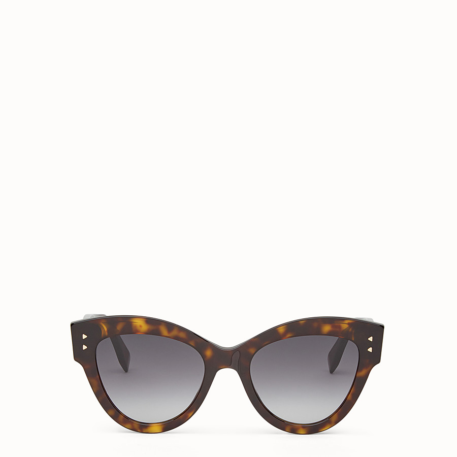 FENDI PEEKABOO - Havana brown sunglasses - view 1 detail