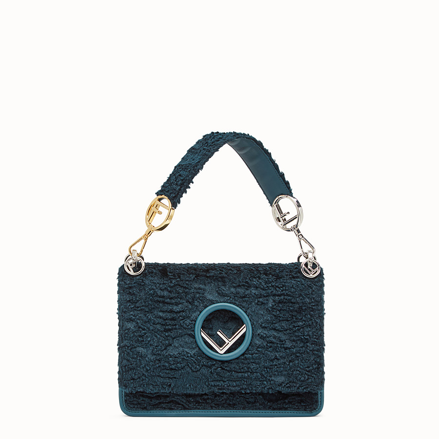 FENDI KAN I F - Blue velvet bag - view 1 detail