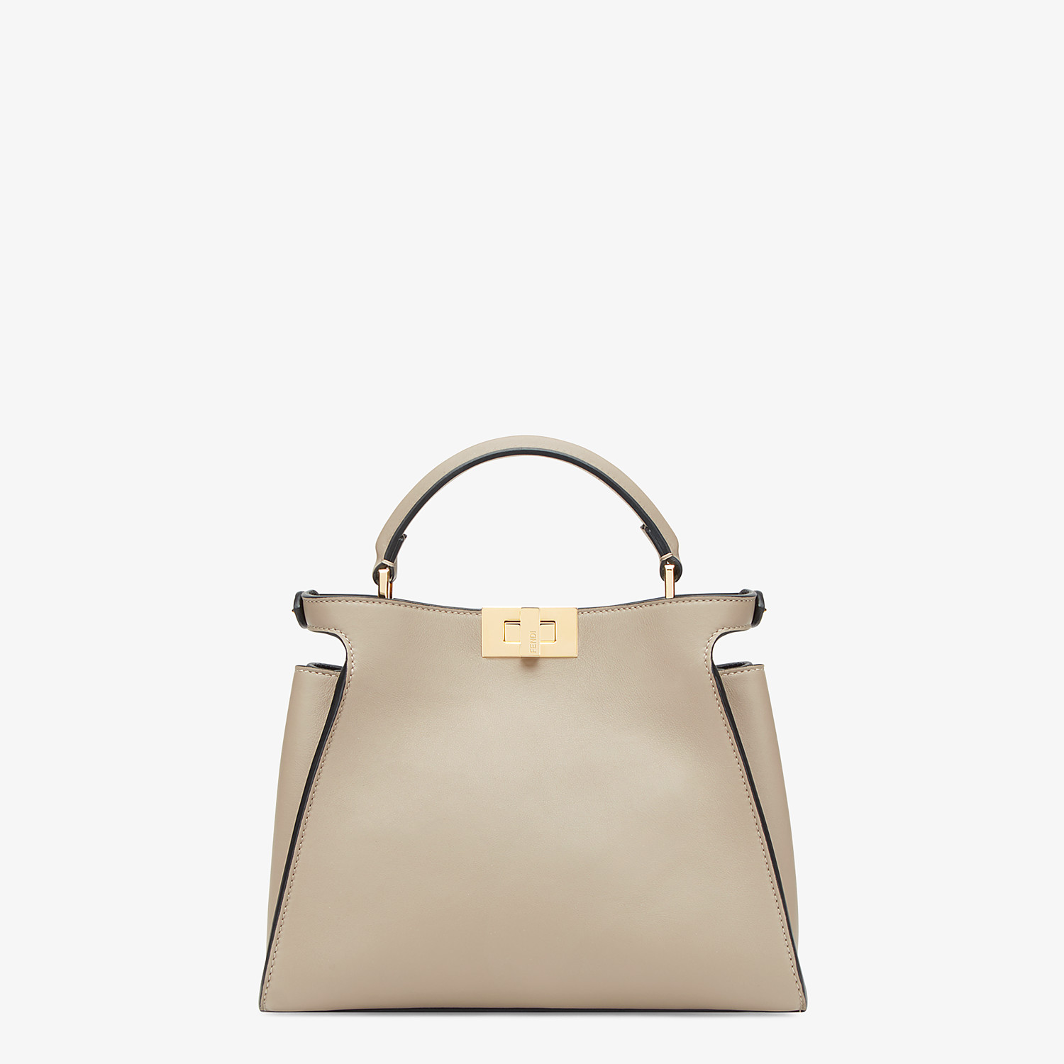FENDI PEEKABOO ICONIC ESSENTIALLY - Dove gray leather bag - view 3 detail