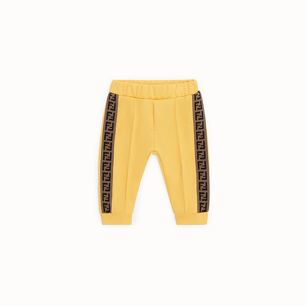 FENDI TROUSERS - Yellow tech mesh jogging trousers - view 1 small thumbnail