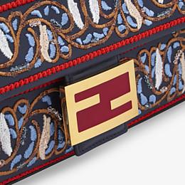 FENDI BAGUETTE - Blue leather bag - view 6 thumbnail