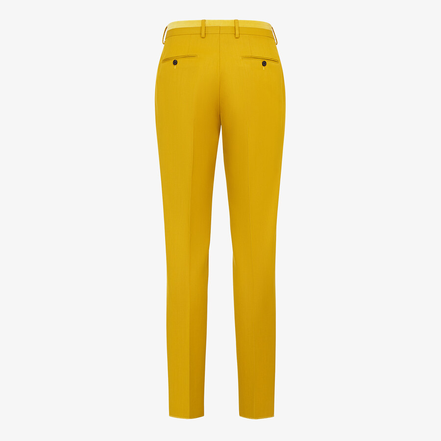 FENDI PANTS - Yellow wool pants - view 2 detail