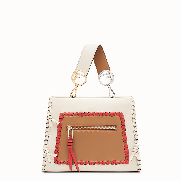 FENDI RUNAWAY SMALL - White leather bag - view 1 small thumbnail