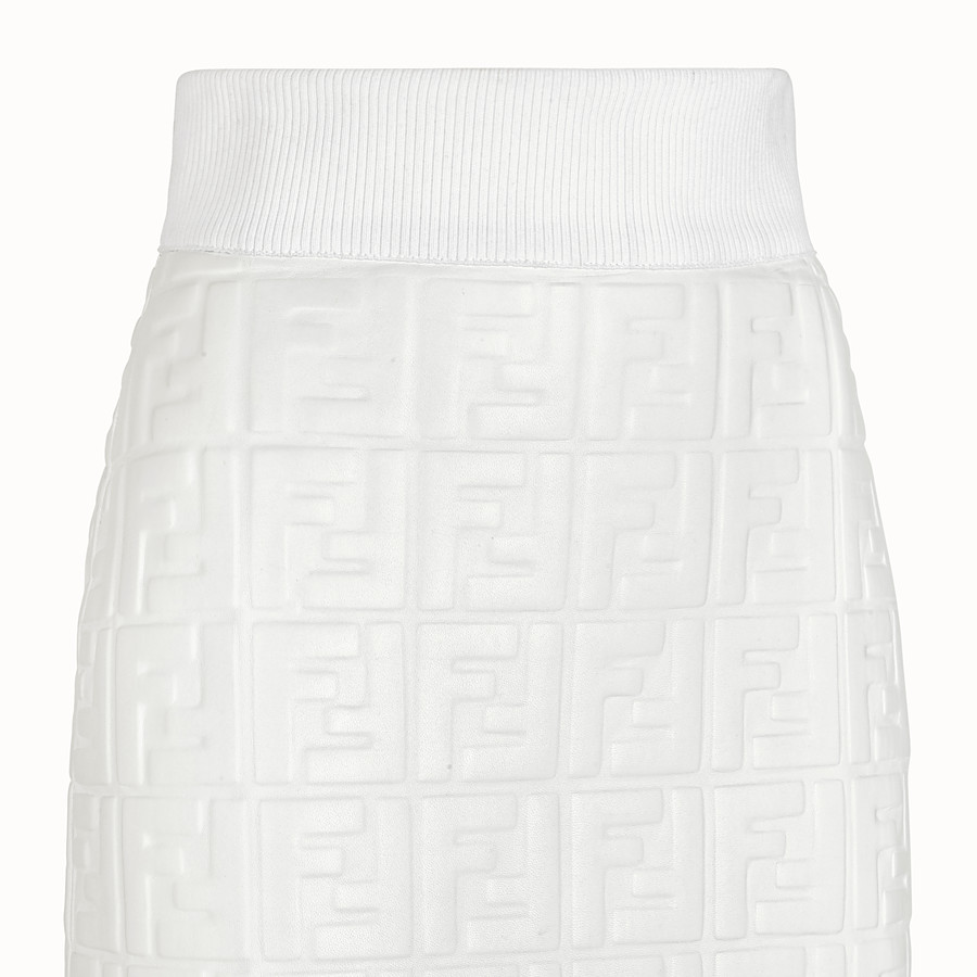 FENDI SKIRT - White nappa leather skirt - view 3 detail