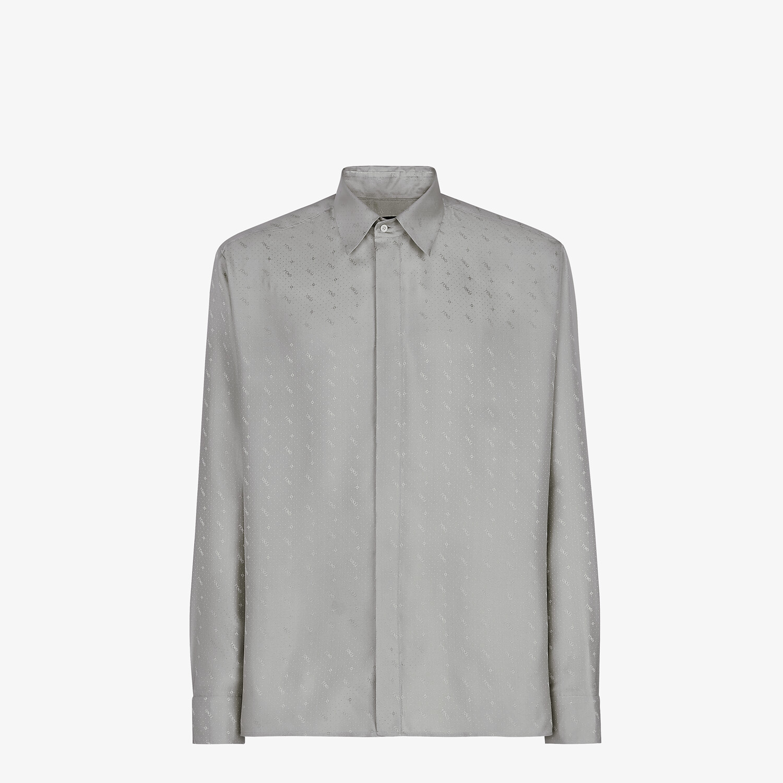 FENDI SHIRT - Gray silk shirt - view 1 detail
