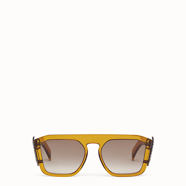 FENDI FFREEDOM - Yellow sunglasses - view 1 small thumbnail