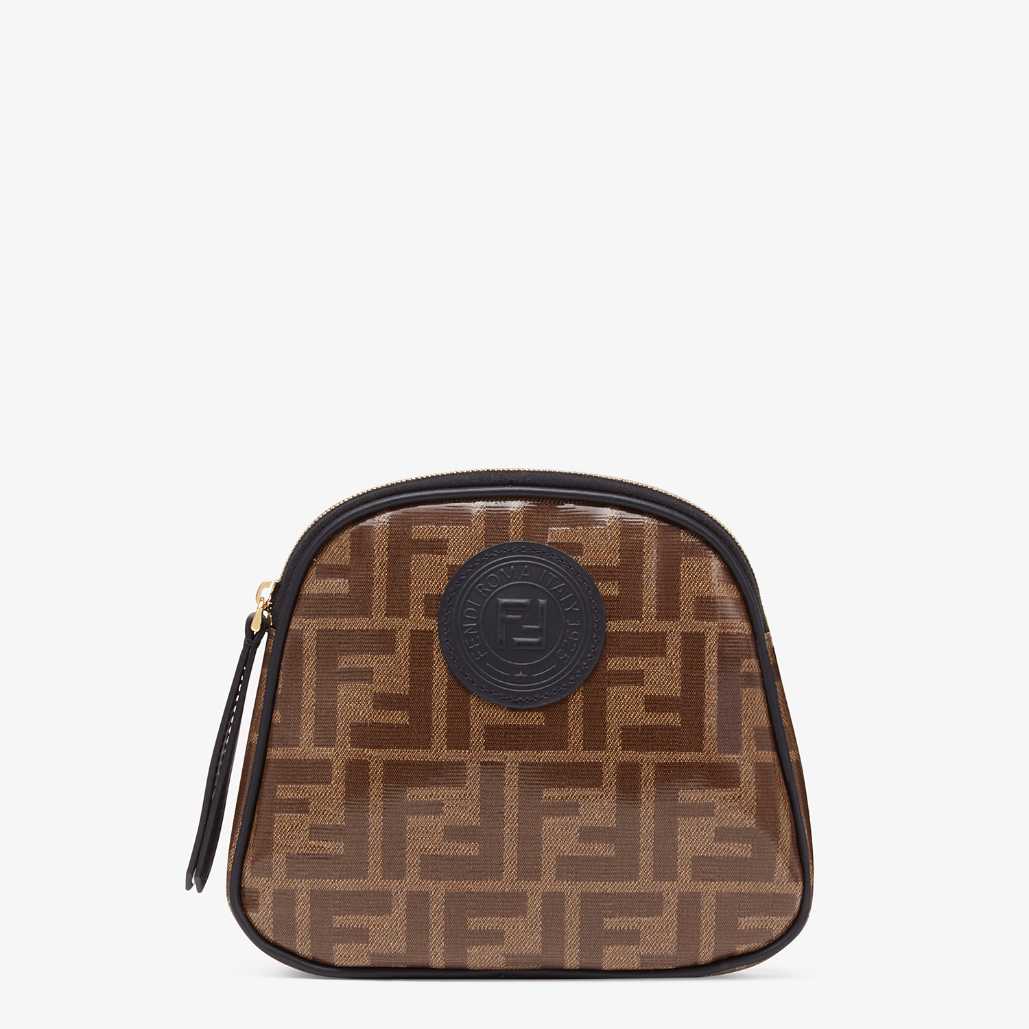 FENDI TOILETRY CASE MEDIUM - Brown fabric toiletry case - view 1 detail