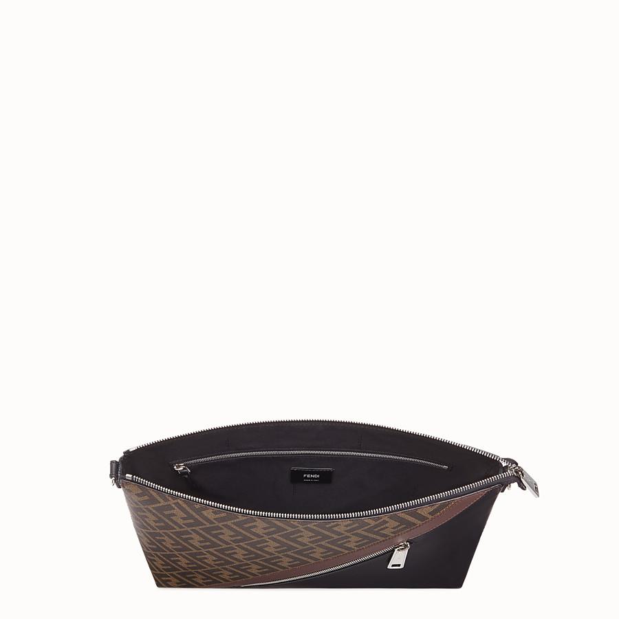 FENDI MESSENGER - Black calfskin bag - view 4 detail
