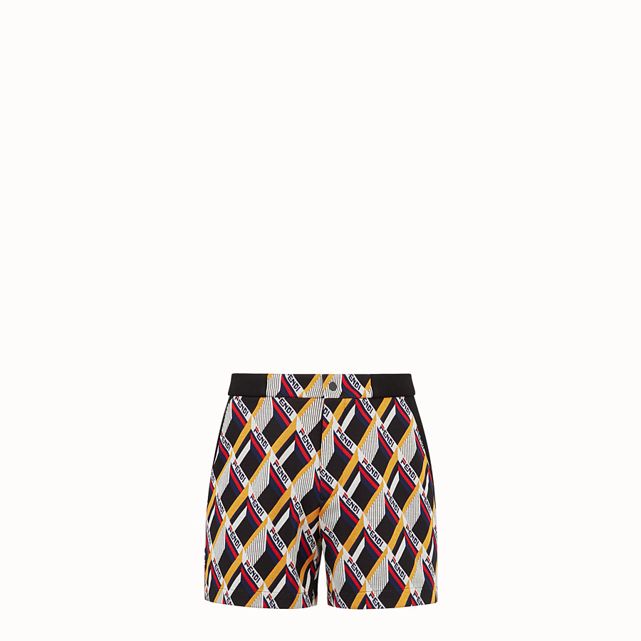 FENDI TROUSERS - Multicoloured tech fabric swimsuit - view 1 detail