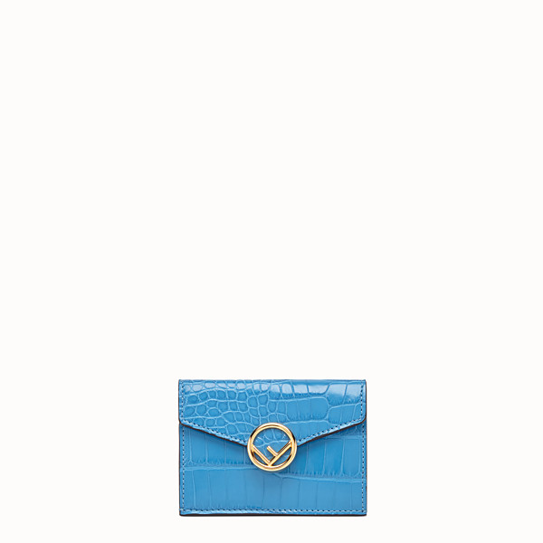 FENDI MICRO TRIFOLD - Pale blue alligator wallet - view 1 small thumbnail