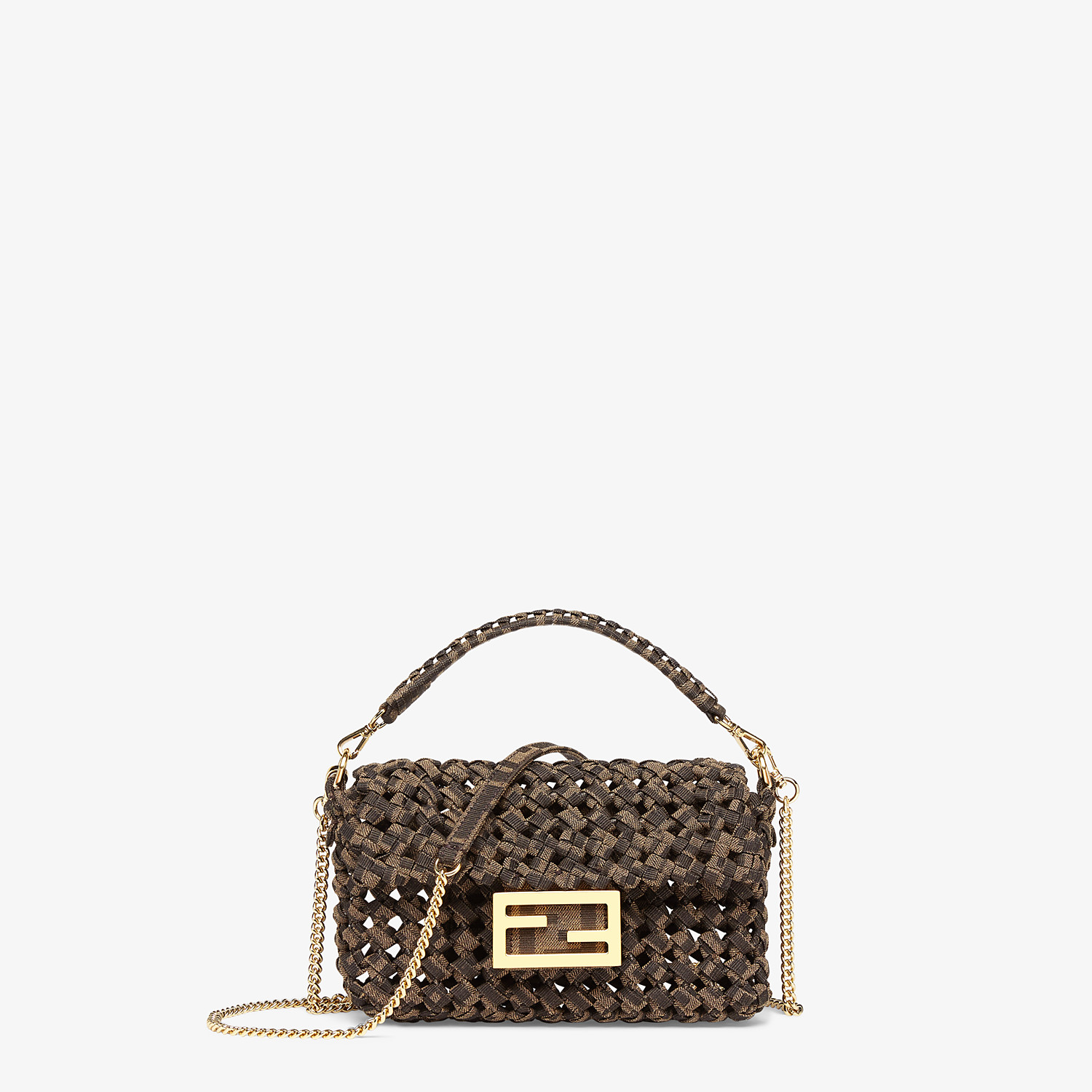 FENDI BAGUETTE - Jacquard fabric interlace bag - view 1 detail