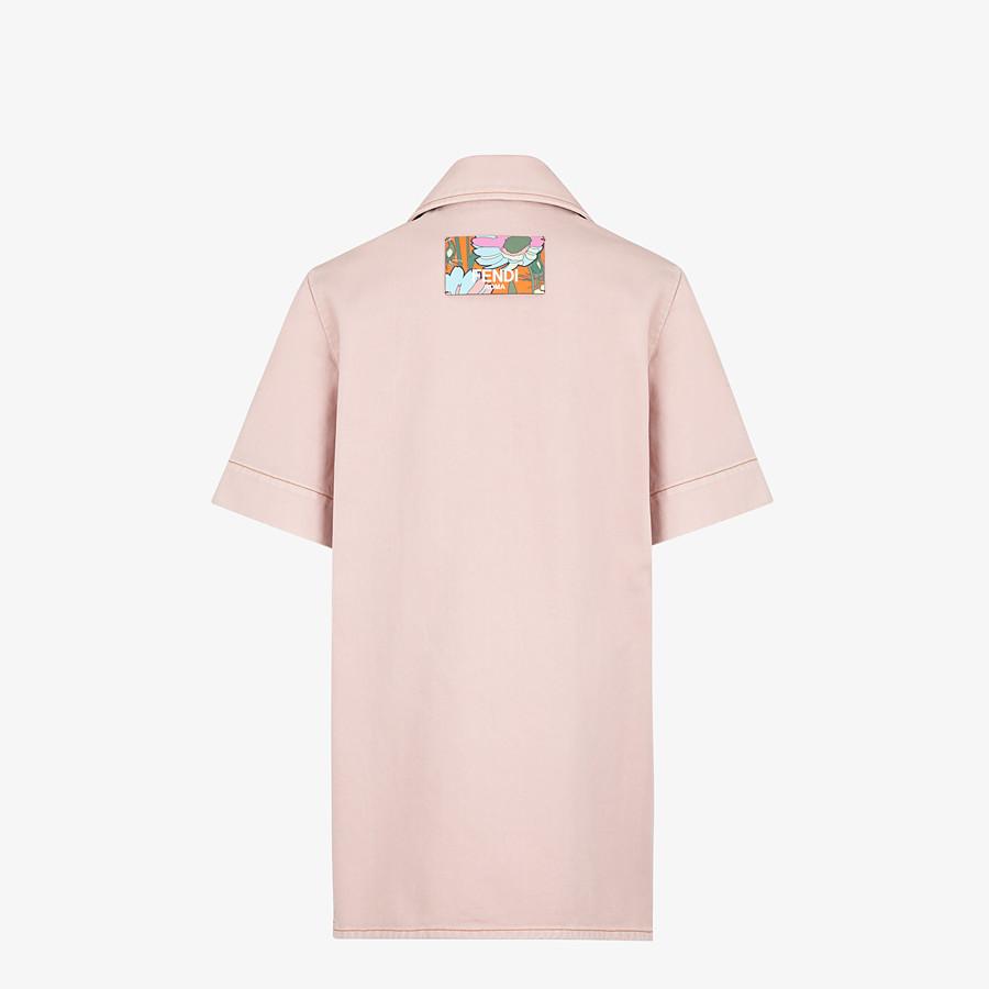 FENDI JACKET - Pink denim jacket - view 2 detail