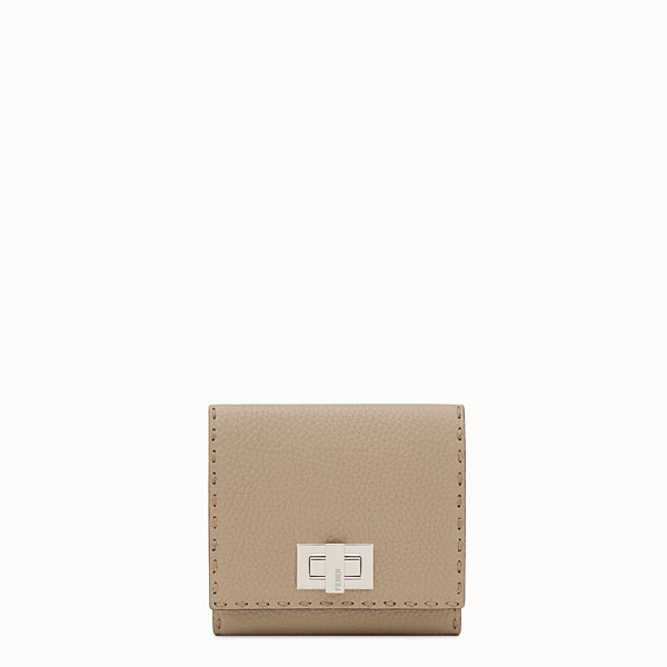 FENDI CONTINENTAL MEDIUM - Beige leather wallet - view 1 small thumbnail