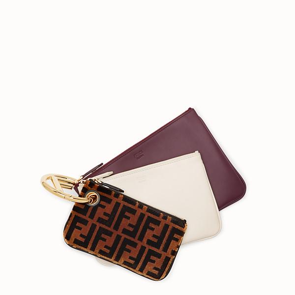 FENDI TRIPLETTE - Multicolor leather clutch - view 1 small thumbnail