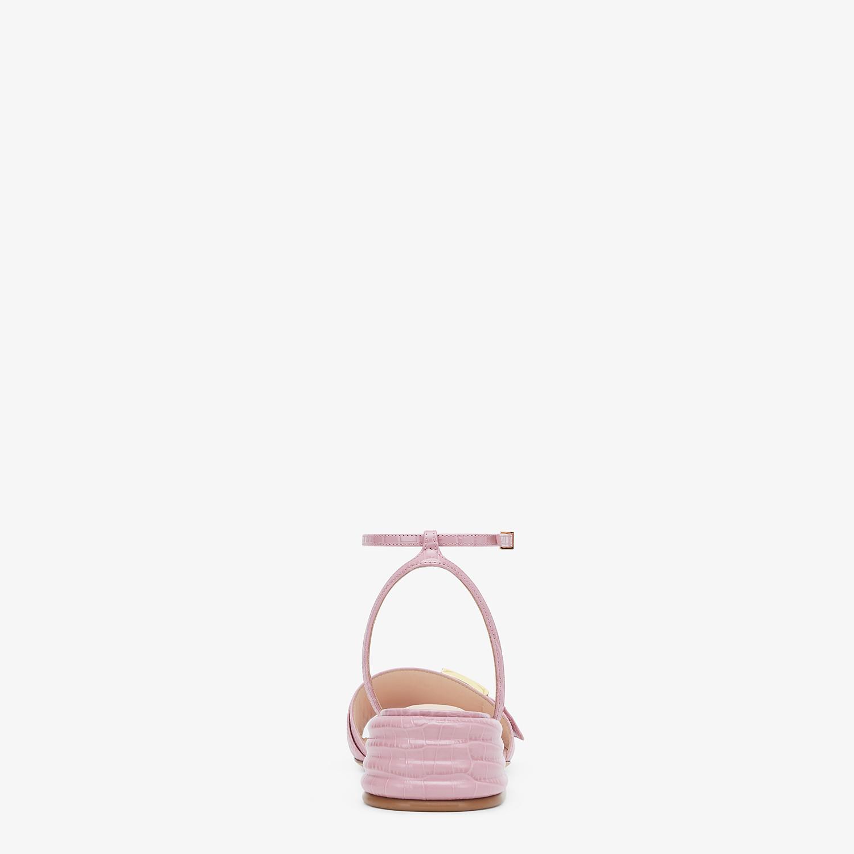 FENDI SANDALS - Pink leather Promenade Sandals - view 3 detail