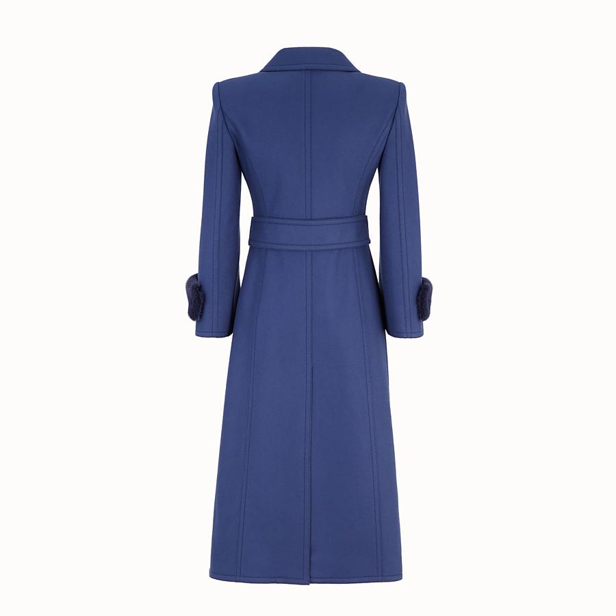 FENDI OVERCOAT - Blue wool overcoat - view 2 detail