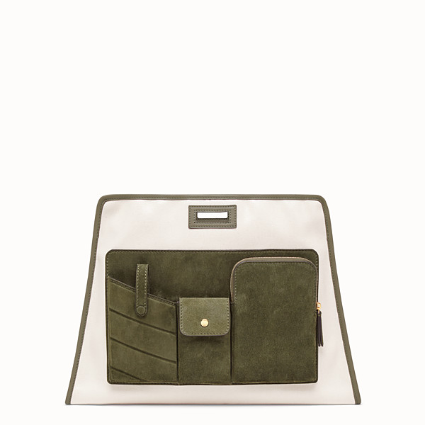 FENDI MEDIUM PEEKABOO DEFENDER - Beige canvas Peekaboo cover - view 1 small thumbnail