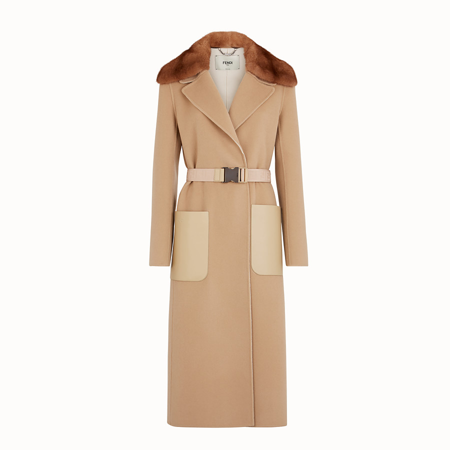 FENDI COAT - Beige cashmere coat - view 1 detail