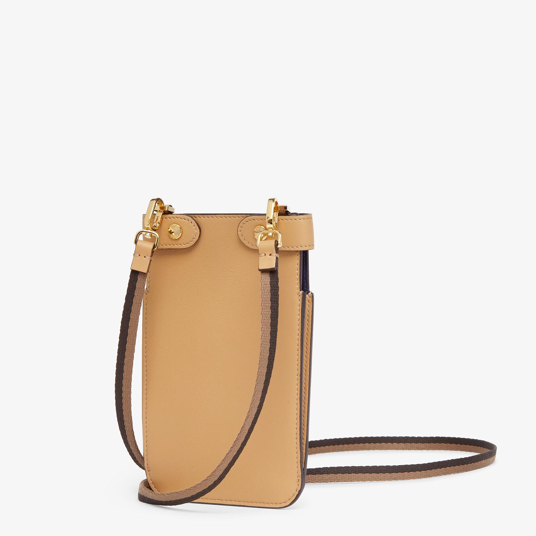 FENDI PEEK-A-PHONE - Beige leather pouch - view 2 detail