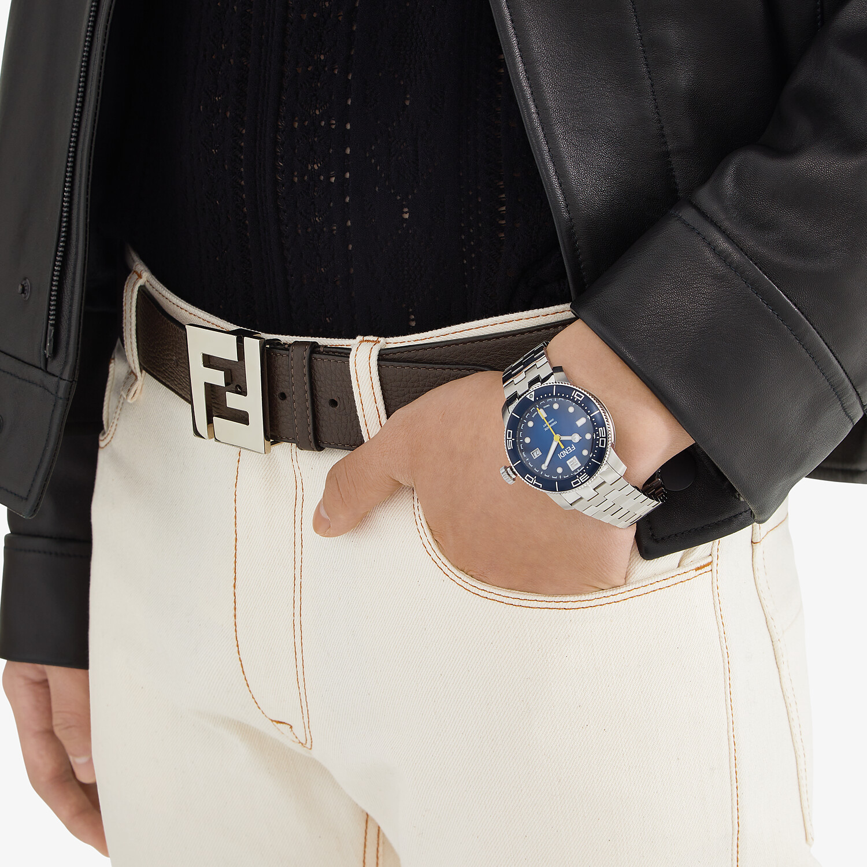 FENDI BELT - Brown leather belt - view 3 detail