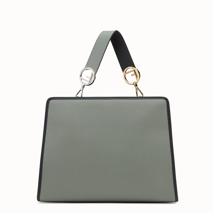FENDI RUNAWAY REGULAR - Green leather bag - view 3 detail