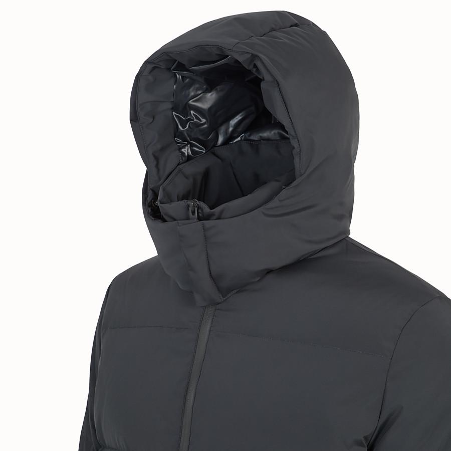 FENDI DOWN JACKET - Black nylon down jacket - view 4 detail