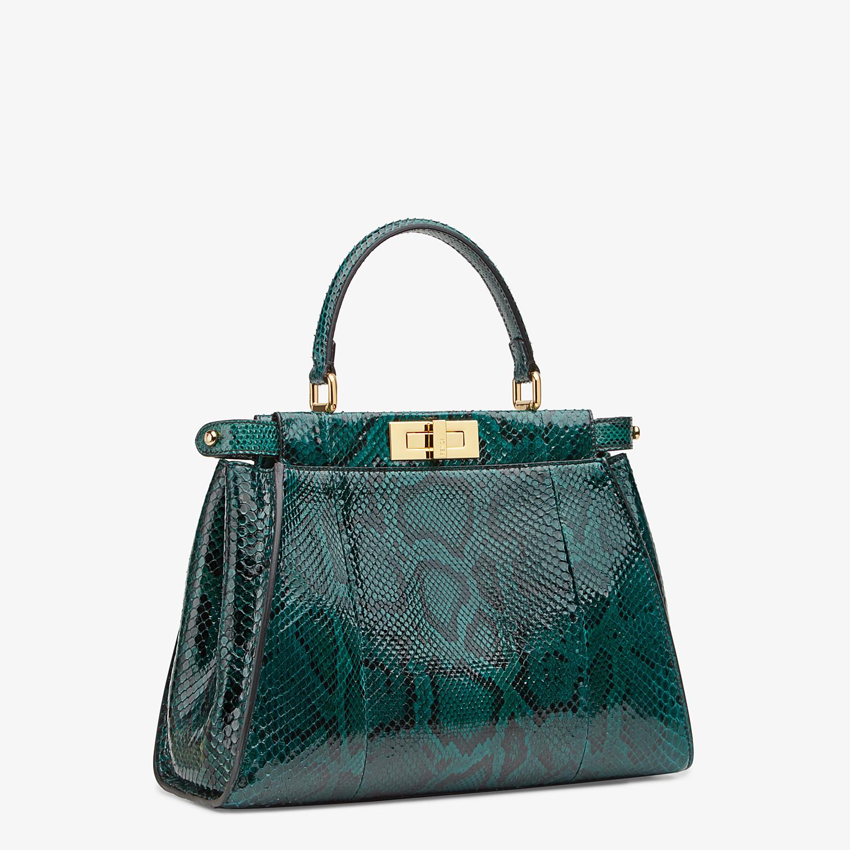 FENDI PEEKABOO ICONIC MEDIUM - Green python handbag. - view 2 detail