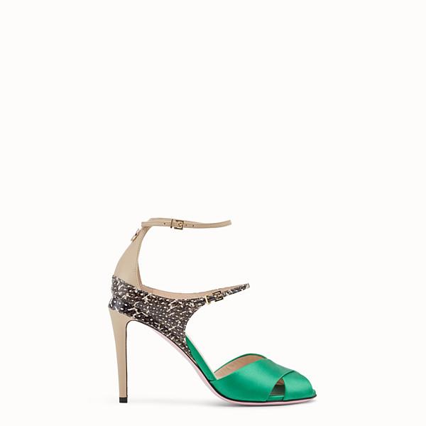 FENDI SANDALS - Green satin sandals - view 1 small thumbnail