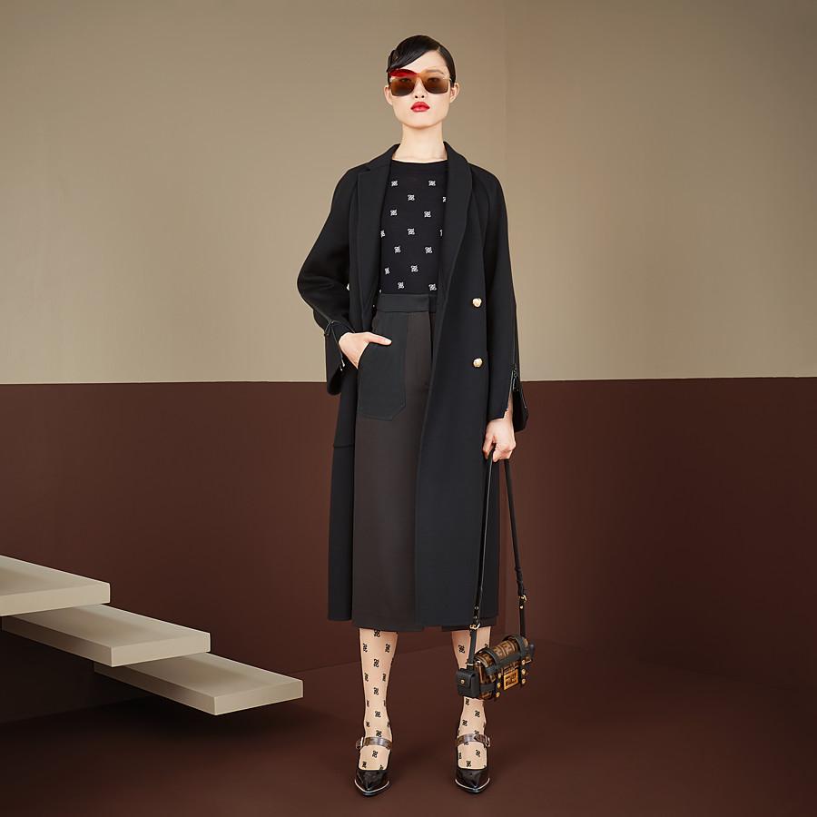 FENDI COAT - Black wool coat - view 4 detail