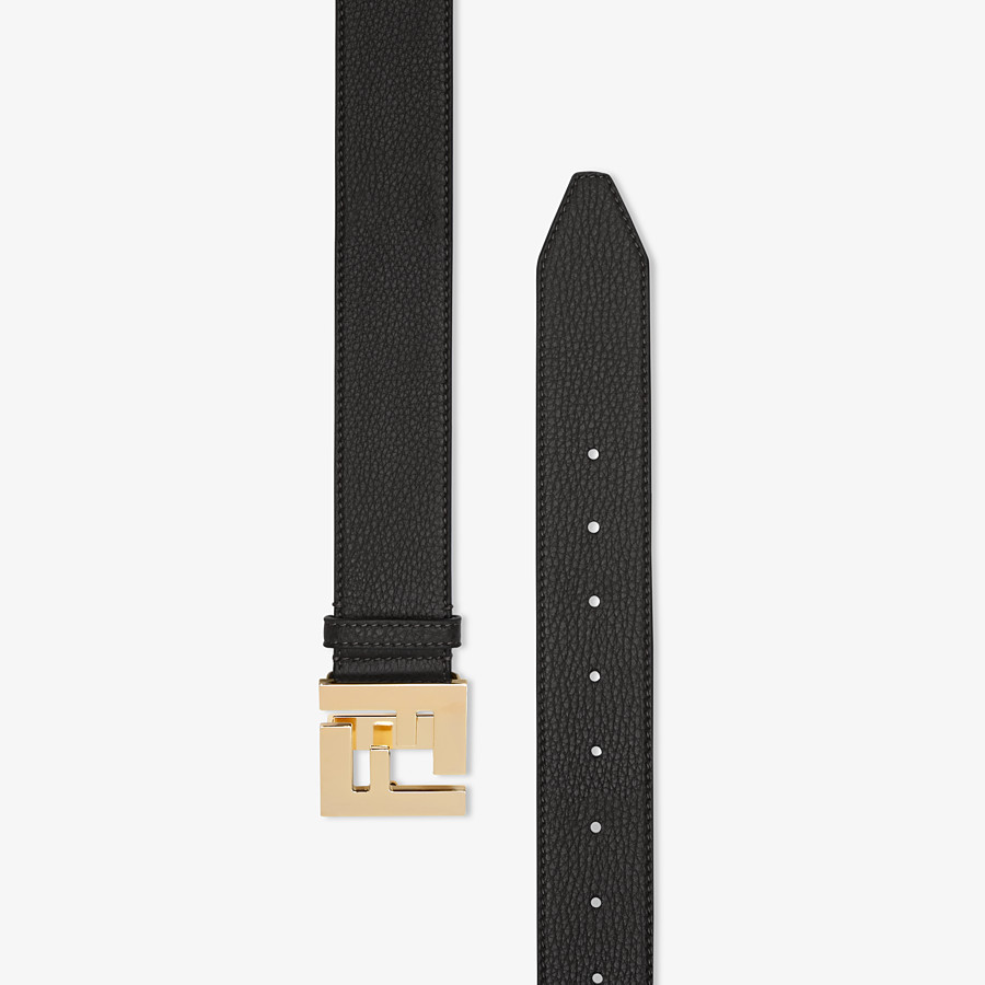 FENDI BELT - Black Cuoio Romano leather belt - view 2 detail