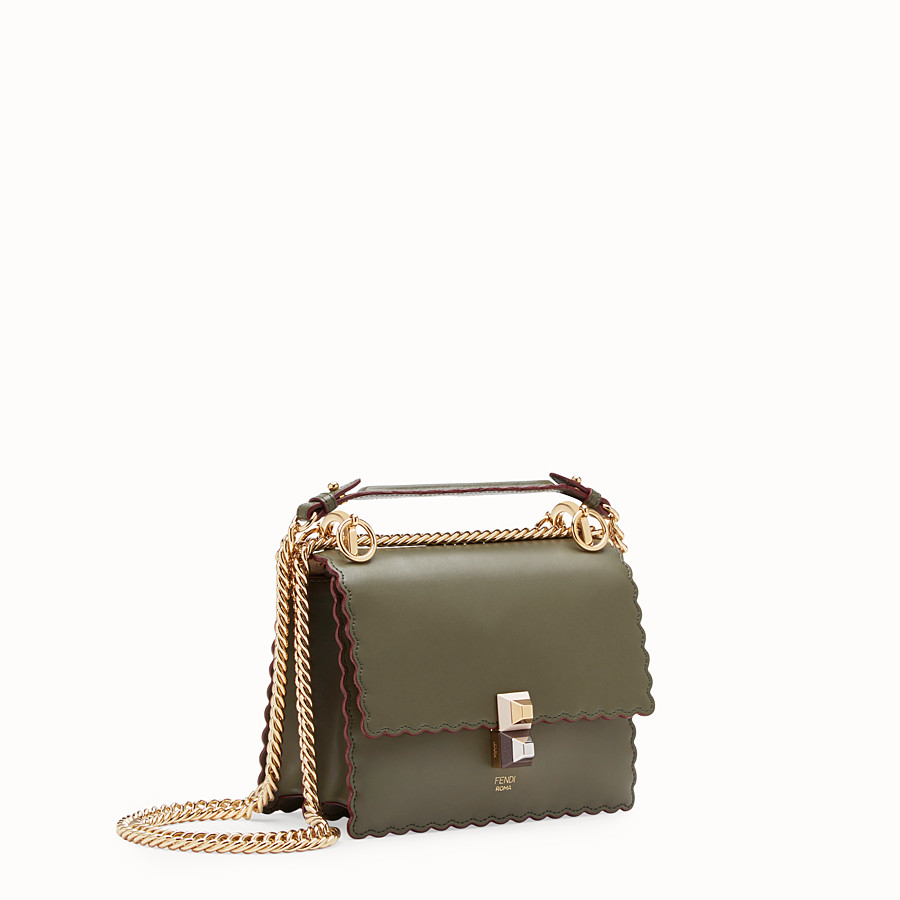FENDI KAN I SMALL - Mini sac en cuir vert - view 2 detail
