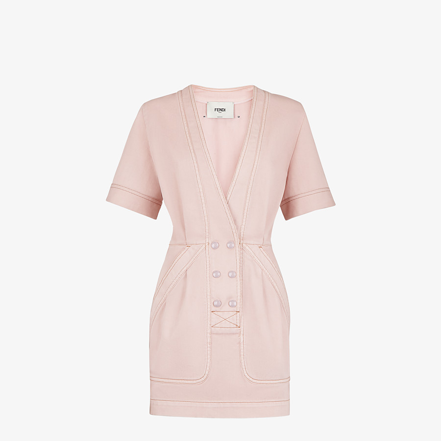FENDI DRESS - Pink denim dress - view 1 detail