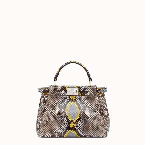 FENDI PEEKABOO MINI - multicolour python handbag - view 1 small thumbnail