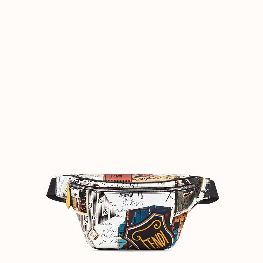 FENDI BELT BAG - Multicolour nylon belt bag - view 1 detail
